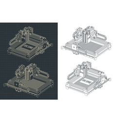 laser cutting and engraving machine vector image