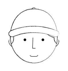 mechanic worker with cap vector image vector image