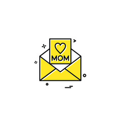 mothers day card icon design vector image