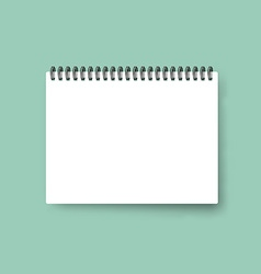 Realistic notebook Calendar template Blank cover vector image