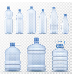 realistic water bottle empty plastic containers vector image