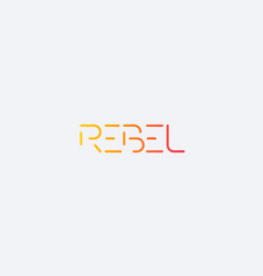 rebel minimal logo design vector image