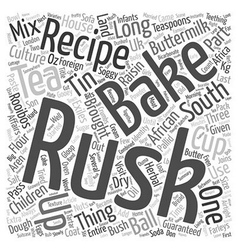Recipe South African Buttermilk Rusks text vector image