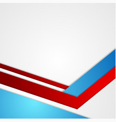 red and blue abstract minimal corporate background vector image