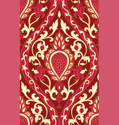 red pattern with damask vector image