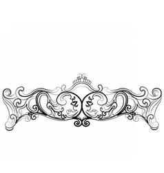 Royal Sofa in Rococo style vector image