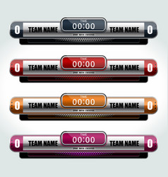 Scoreboard icons sports vector