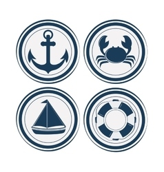 Sea life design nautical and marine concept vector image