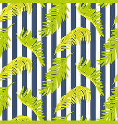 seamless pattern with palm tree branches vector image