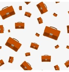 Seamless - portfolio bag vector image