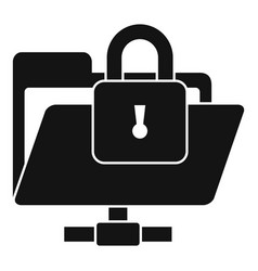 secured folder icon simple style vector image