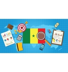 senegal africa economy economic condition country vector image