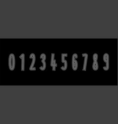 set numbers formed by parallel lines numbers icon vector image