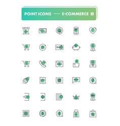 set of 30 line icons e-commerce vector image