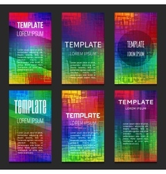 Set of colorful templates vector image