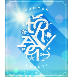 Summer travel type design vector image