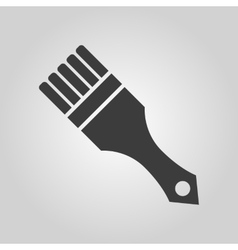 The paint brush icon Painting and renovation vector image