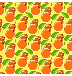 The pattern with oranges and leaves vector image