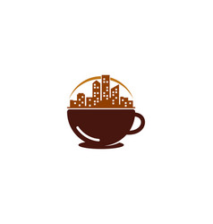 town coffee logo icon design vector image