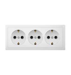 Triple electrical socket type f vector