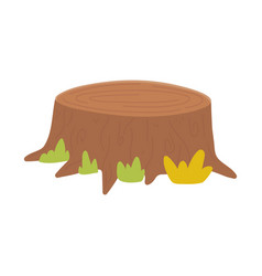trunk leaves forest cartoon isolated icon vector image