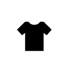 tshirt icon black on white vector image