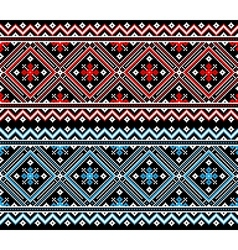 Ukrainian folk seamless pattern ornament Ethnic vector