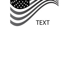 usa flag text write background grayscale vector image