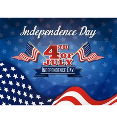USA Independence Day Celebration Sign vector