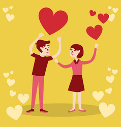 valentines day love couple confess vector image