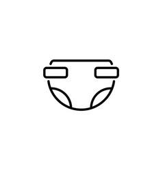 web line icon baby diaper nappy black on white vector image