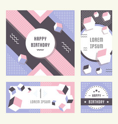 Website banner and landing page happy birthday vector