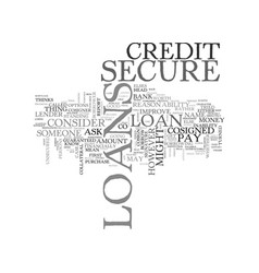 What secure loans are and how you can get one vector