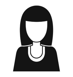 Women avatar icon simple style vector
