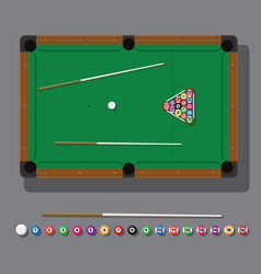 a billiard table with green vector image