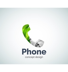 Retro phone logo template vector image