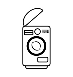 washing machine home appliance outline vector image