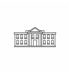 White house USA icon outline style vector image