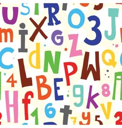 Alphabet white pattern vector image