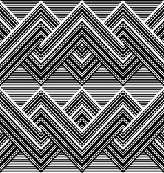 Black and white pattern by lines vector image vector image