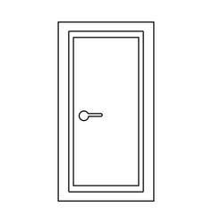 door the black color icon vector image vector image
