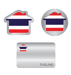 Home icon on the Thailand flag vector image vector image