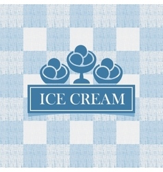 ice cream against tablecloth in the box vector image vector image