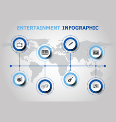infographic design with entertainment icons vector image vector image