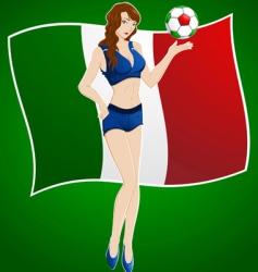 Italy fan vector image