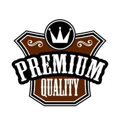 Premium Quality emblem or label vector image