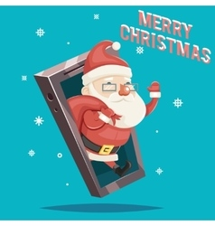 Santa Claus with Gift Bag Christmas New Year vector image vector image