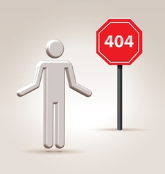sign 404 vector image