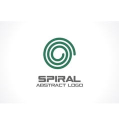 Abstract business company logo Spiral Nature vector image vector image