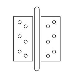 Accesories for door the black color icon vector